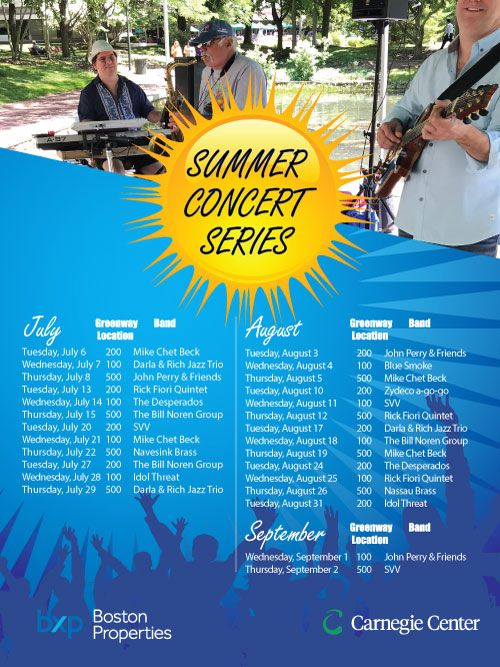 2021 Summer Concert Schedule